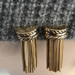 Vintage Whiting &Davis tassel earrings